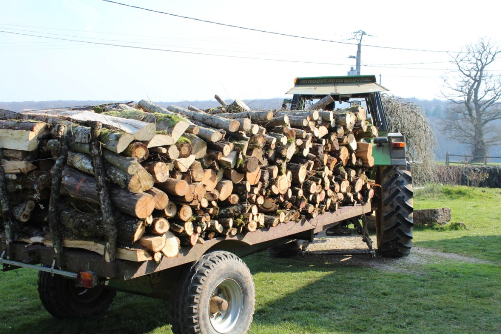 Le tracteur est venu 5 fois, rempli tout pareil...