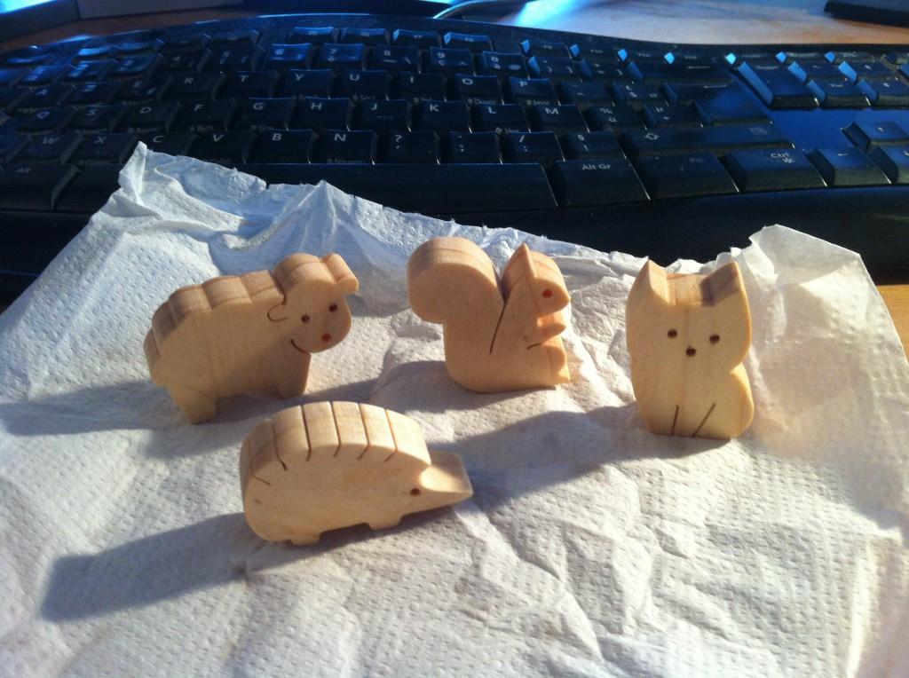 Hérisson et chat pour Belette, mouton et écureuil pour Poussin !